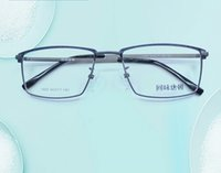 Wholesale Korean Retro Eyeglasses - Korean Style Fashionable Metal Half-frame Man Woman Tr90 Retro Plain Eyeglass Myopiad Frame