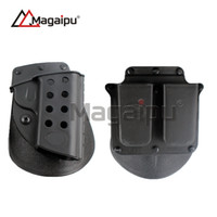 Wholesale Paintball Holster - Magaipu 1911 and magazine Paddle Holster Combo 1911 + 4500 Airsoft Paintball Belt Gun Holster CS Game Combat Gun Pouch