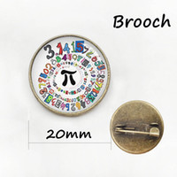 Wholesale Brooches Anchor - Math Pi symbol metal pin vintage Mathematic Symbols chemical formula brooches formal wear chinese characters badge