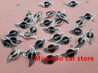 Wholesale Auto Key Logo - styling 100pcs Free shipping 21mm*10mm MINI logo Auto Key Fob Emblem Badge Sticker Car styling Auto Accessories