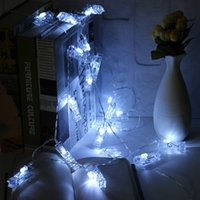 Vente en gros - 2,2 m DC3V 20 LED String Light Batterie actionnée Colorful Photo Peg Clip Shape Fairy Light Hanging Card Picture Party Decor