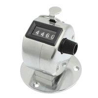 Wholesale Mechanical Click Counter - Wholesale-Super sell Round Base 4 Digit Manual Hand Tally Mechanical Palm Click Counter