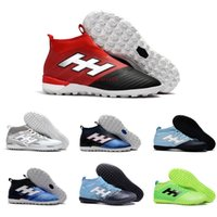 Wholesale Best Indoor Soccer Shoes - New ACE 17+ PureControl FG Dragon Soccer Shoes Indoor Football Shoes ACE Tango 17+ Purecontrol TF IN Mens Women Best High Ankle Soccer Boots