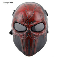 Armée De L'oreille Pas Cher-Tactical Airsoft Sports Paintball Wargame Masque avec protection auditive Chastener Skeleton Safety Silver Steel Wargame Army Field Game Halloween