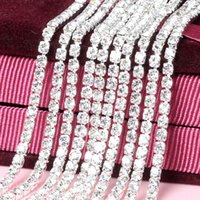 2mm-4mm Rhinestone Cadenas con base de plata Density Trim Clear Crystal Cosa en DIY Garment Jewelry Cellphone Accesorios de belleza