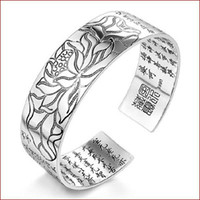 bracelets porte-bonheur chinois achat en gros de-925 bracelet en argent sterling objets carven lotus charme bracelets bracelet nouvelle arrivée chanceux chinois charmes de bénédiction