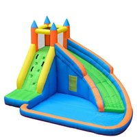 Wholesale Bouncy Castles - Kids Inflatable Water Slide Big Pool Bounce House Jumper Bouncer Jump Bouncy Castle