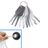 otomatik kilit takma kiti toptan satış-10 adet Jiggler Keys Kilit Çift Taraflı Kilit Seçim Araçları Için Pick pick Araba kilitleri Açılış Tool Kit Oto Çilingir aracı