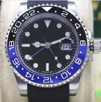 Wholesale Batman Tops - Top luxury brand watch automatic Mechanical men watches 40mm black Rubber watchband mm6 chronometer Ceramic Bezel BATMAN PVD male clock