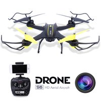 Wholesale Hd Camera Ufo Aircraft - RC Quadcopter Drone with Camera HD 0.3MP 2MP WiFi FPV Camera Drone Remote Control Helicopter UFO Aerial Aircraft S6