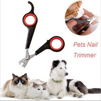 Wholesale caring dog - Pet Dog Cat Care Nail Clipper Scissors Grooming Trimmer 12.2*5.5cm Black Color Pet supplies DHL Free
