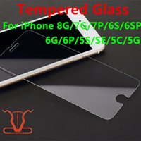 Wholesale For iPhone Tempered Glass Screen Protector For Iphone Plus S C SE Film D H Hardness Anti shatter Package