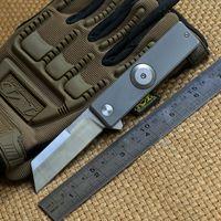 Wholesale Finger Fold - Titanium alloy finger tip gyro D2 blade titanium handle ball bearing flipper folding knife outdoor camping fruit pocket knife EDC tools