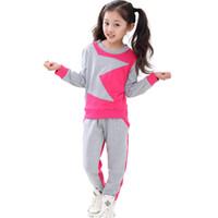 Wholesale Girl S Sport Set Kids - IDGIRL Long Sleeve Sweatshirt + Pants Baby & Kids Clothing Girl Sport Style Outfit Autumn & Winter Clothing Sets