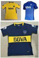 Wholesale Camisetas Nylon - Whosales 17 18 Camisa Boca Juniors Jersey 2017 Soccer Jerseys Chandal Football Shirt GAGO OSVALDO Uniform Camisetas De Futebol TOP Custom