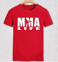 Wholesale Fight Shop - Free shopping mens t shirts fashion Print Muhammad ALI Boxer Fight MMA t shirt men 100% Cotton T-shirt MMA Life fighting