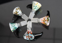 Wholesale Screen Pieces - 2017 Colorful Glass Bowl Pieces For Bongs Female Male 14mm 18mm With Honeycomb Screen Round Glass Bowls For Oil Rigs Glass Bongs