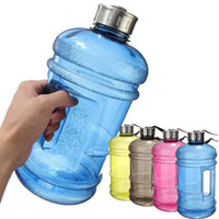 Wholesale workout gifts for sale - Group buy 2 Litre Kettle Motion Plastic Water Bottle Aquarius Gym Workout Training High Capacity Bucket Dumbbell Cup Portable Sports Gifts gf H