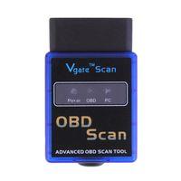 Wholesale Auto Advances - Mini ELM327 V2.1 Bluetooth HH OBD Advanced OBDII OBD2 ELM 327 Auto Car Diagnostic Scanner code reader scan tool blue hot sale
