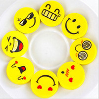 2.5 cm Smile Face Erasers Rubber para lápices Kids Funny Cute Stationery Novedad Eraser Office School Supplies 120 unids = 1 CAJA