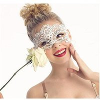 Wholesale Masque Eye - Wholesale- Cloth Eye Lace Masks For Venetian Carnival Anonymous Sexy Mask For Masquerade Halloween Party Female Mask Costume Cosplay Masque