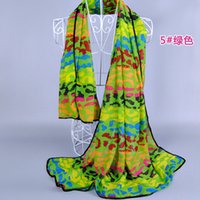 Wholesale Neon Scarfs - Wholesale- 1 PC 140*100CM Big size New Arrival Winter Scarf Hot Sale Neon Color Green Blue Cotton Brand Leopard Scarf Free Shipping RF04