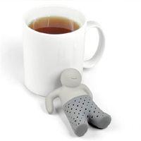 Wholesale Unique Life - Mr.Tea Infuser Strainers Filter Unique Cute Tea Strainer, Interesting Life Partner Cute Mr Teapot Silicone Tea Infuser