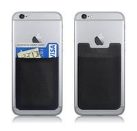 cartes génériques achat en gros de-50pcs Ultra-slim Self Adhesive Carte de crédit Carte Portefeuille Porte-carte pour Smartphones pour iPhone Samsung tous les téléphones sont génériques
