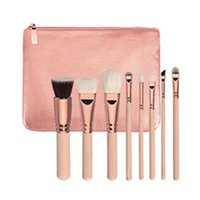Wholesale Wood Working Set - Mybasy 2017 active demand 8pcs set makeup brushes Wooden handle gold tube, daily, work makeup essential kit tool brush