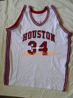 Billige benutzerdefinierte # 34 Hakeem Olajuwon Houston Cougars College University Basketball Jersey Stickerei genäht jede Anzahl und Name Trikots