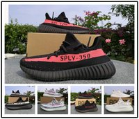 Wholesale Low Price Boot - 2017 350 V2 boost Zebra Grey Orange Shoe Running Shoes Boots sneakers Black Red 350 v2 Sports Shoes Best Price With Original Box