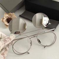 86287ef62b3 2017 MEN browne Vintage FLIP UP Silver Eyeglasses Sunglasses Frames Brand  New in Box