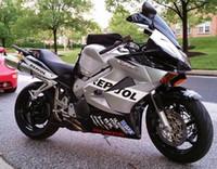 Wholesale Repsol Honda - New ABS motorcycle Fairings kits For HONDA VFR800RR VFR800 800RR 2002-2012 02 03 04 05 06 07 08 09 10 11 12 Nice style silver black Repsol