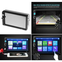 Wholesale Mobile Camera Kit - 2 Din Car Radio Player 7 inch HD Touch Screen Wireless Bluetooth Car Stereo MP5 Player Rear View Camera FM USB TF AUX IN Russian