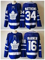 Wholesale Free Leafs Jersey - 2017 2018 New Style 16 Mitchell Marner Jersey Men Toronto Maple Leafs 34 James Reimer Hockey Jerseys Ice Blue Stitched Color Free Shiping