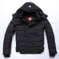 Wholesale Overcoat Hats - Wholesale- Top Quality Wellensteyn Men Down Parka Jacket Coat 2016 New Winter Fashion Thick Warm Overcoat Man zipper Outerwear black Dow