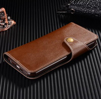 Para iPhone 5 5S 6 Plus 7 Plus Samsung Nota 7 Genuine Leather Flip Capa Bolsa Bolsa Wallet Bolsa 100pcs DHL