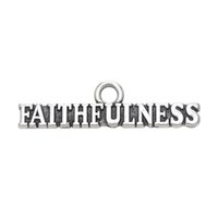 Wholesale Tibetan Silver Charms Prices - Factory Price Cheap Znic Alloy Tibetan Silver Message Faithfulness Charms Pendant For DIY Jewelry