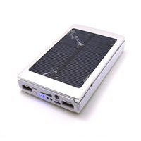 Wholesale solar light mobile charger - 20000mAh Solar Battery Chargers Portable Camping light Double USB Solar Energy Panel Power Bank with LED Light For Mobile Phone iPad Tablet
