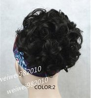 Wholesale Small Hair Claw Clips - Curly Claw Hair Ponytail Clip-on ,Short Ponytails 10 colors selectable Free shipping