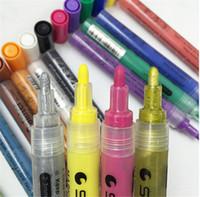 pluma pintura pigmento al por mayor-STA Acrylic Marker pen Painter marcador a base de agua Pigment Ink Water Color Pencil Paint Marker 14 colores 2017