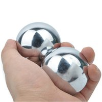 Wholesale Fitness Ball Handball - Stainless Steel Iron Hollow Handball Old Man Special Fitness Handball Solid Empty Hollow Handball 3 Pounds A Pair Of Fitness Ball Presale