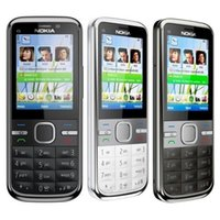 Wholesale Mobile C5 - Refurbished Original Nokia C5-00 Unlocked Mobile Phone 3.15MP Camera 3G Bluetooth FM GPS Bar Cell Phone Free Post