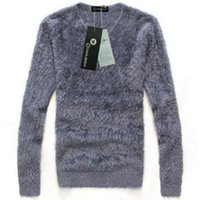 Wholesale Winter Jumpers For Men - Wholesale- European Brand Winter Style Men's Faux Fur Pullover And Sweater New 2016 Fall Fashion Fleece Jumpers For Man