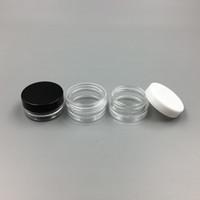 acryl kosmetik gläser flaschen großhandel-1 ML / 1G Kunststoff Leeres Glas Kosmetische Probe Klar Topf Acryl Make-up Lidschatten Lippenbalsam Nail art Stück Container Glitter Flasche Reise
