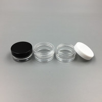 Wholesale Bottle Cap Art - 1ML 1G Plastic Empty Jar Cosmetic Sample Clear Pot Acrylic Make-up Eyeshadow Lip Balm Nail Art Piece Container Glitter Bottle Travel