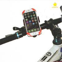 fahrrad iphone telefonhalter großhandel-2017 neue universal handy fahrradhalterung fahrradständer halter handyhalter mit silikon unterstützung band für iphone 7 plus samsung s8