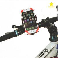 evrensel bisiklet standı toptan satış-2017 Yeni Evrensel Cep Telefonu Bisiklet Montaj Tutucu Bisiklet Standı Tutucular Telefon Tutucu Iphone 7 Için Silikon Destek Band Ile Artı Samsung S8