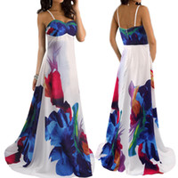 Wholesale Maxi Bra Dress - New Hot Good Selling Women Fashion Summer Beach Sleeveless Print Bra Top Halter Long Party Dress 2846