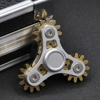 Fidget Toy Gear Chain Hand Spinner Finger Stress Relief Fidget Spinner Quatre roues d'engrenage Spinning Decompression Toy Gifts DHL Free
